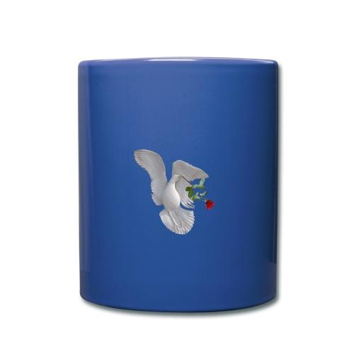 Möwe mit Rose png - Tasse einfarbig