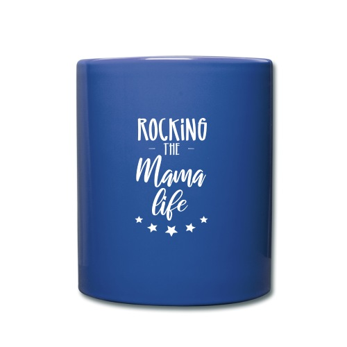 Rocking the Mama life white - Tasse einfarbig