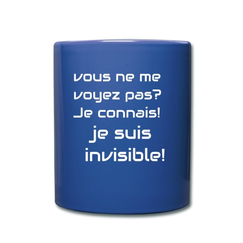 Invisibile #invisibile - Tazza monocolore