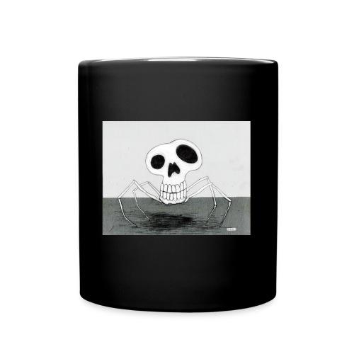 skull spider - Enfärgad mugg