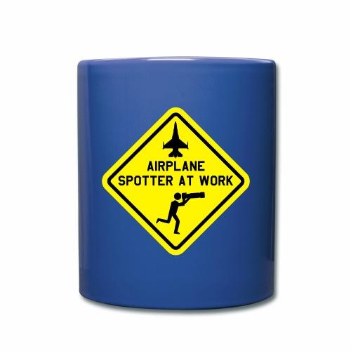 "T-shirt ""mil. airplane spotter at work"". - Mok uni"