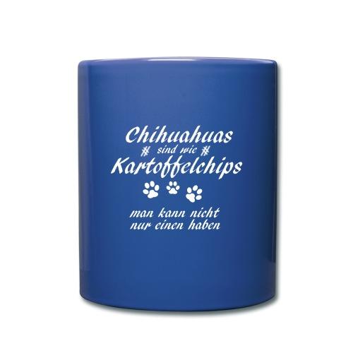 KartoffelchipsChihuahua - Tasse einfarbig