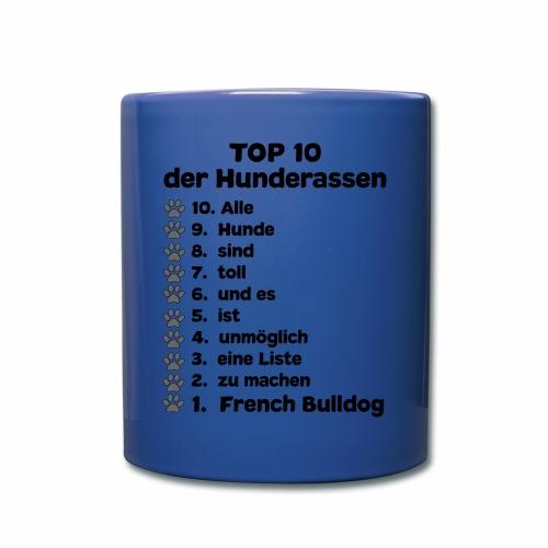 Hunderassen Top 10 Liste - Tasse einfarbig
