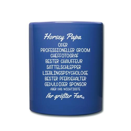 Horsey Papa - Reitturnier - Tasse einfarbig