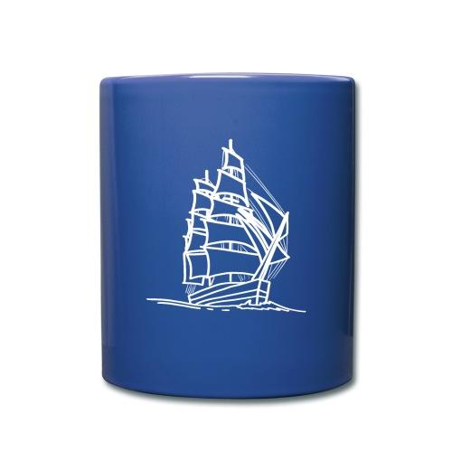 Segelschiff Illustration Meer Schiff Bootsfahrt - Tasse einfarbig