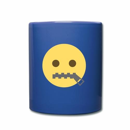 emoji bocca chiusa - Tazza monocolore