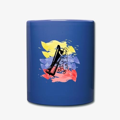 Llanero con arpa - Taza de un color