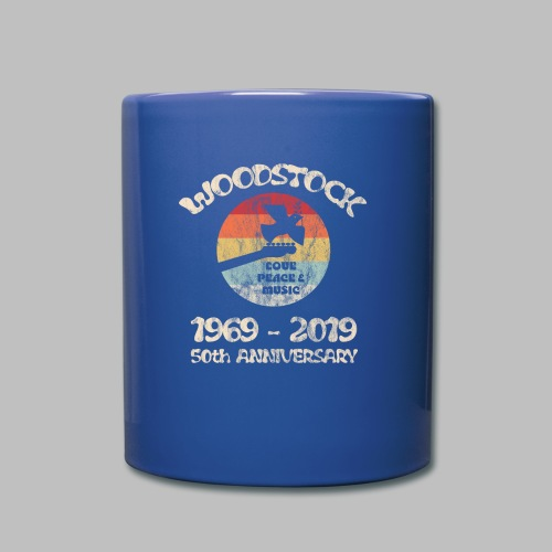 woodstock 50th anniversary love peace and music - Tasse einfarbig