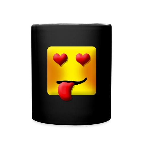Love Face Square Tongue - Ensfarvet krus