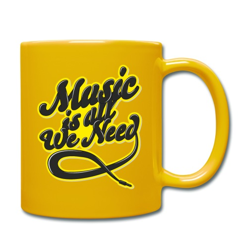 Music Is All We Need - Full Colour Mug