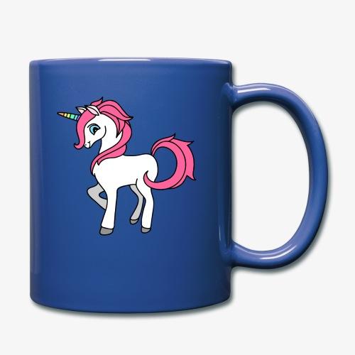 Süsses Einhorn mit rosa Mähne und Regenbogenhorn - Tasse einfarbig