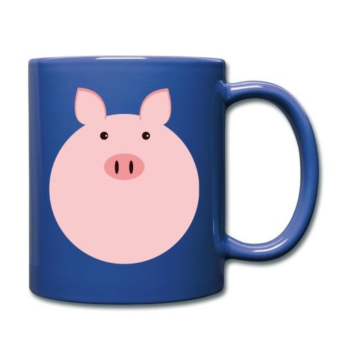 Schweinchen Fred - Tasse einfarbig