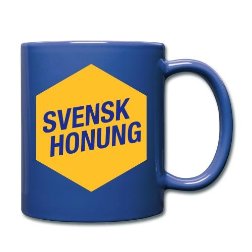 Svensk honung Hexagon Gul/Blå - Enfärgad mugg