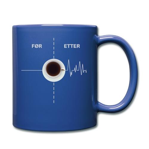 KAFFEELSKER - kaffe er best - Ensfarget kopp
