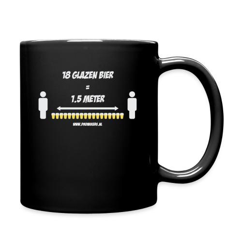 18 Glazen bier = 1,5 meter - Mok uni