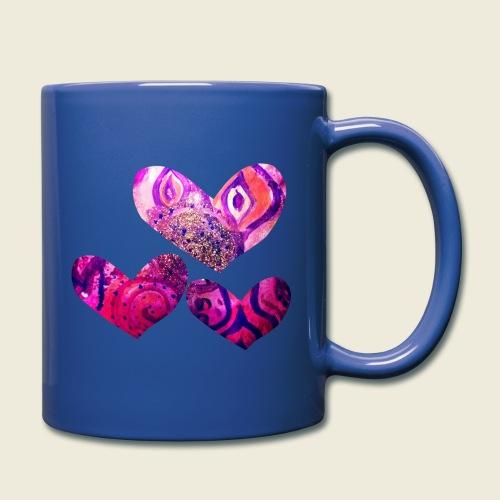 Traumhafte Herzen in pink - Tasse einfarbig