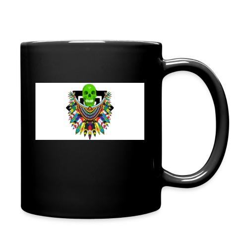 Colorfull skull - Yksivärinen muki