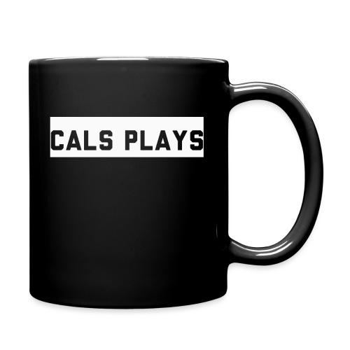 Cals Plays Text White - Full Colour Mug