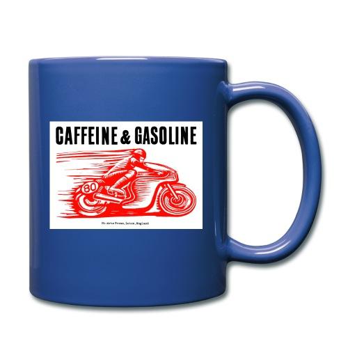 Caffeine & Gasoline black text - Full Colour Mug