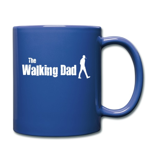 the walking dad white text on black - Full Colour Mug