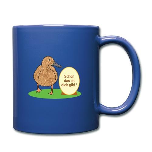 Ente mit Ei - Tasse einfarbig