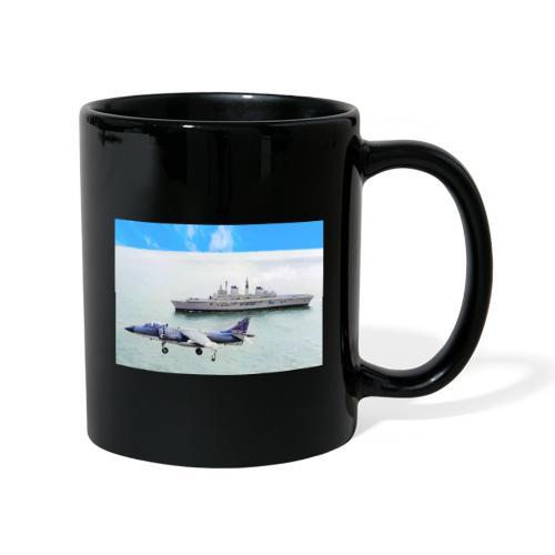 Sea harrier and Invicible digital oil - Full Colour Mug