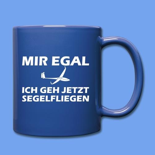 Mir egal - Segelflieger Segelflugzeug Geschenkidee - Tasse einfarbig