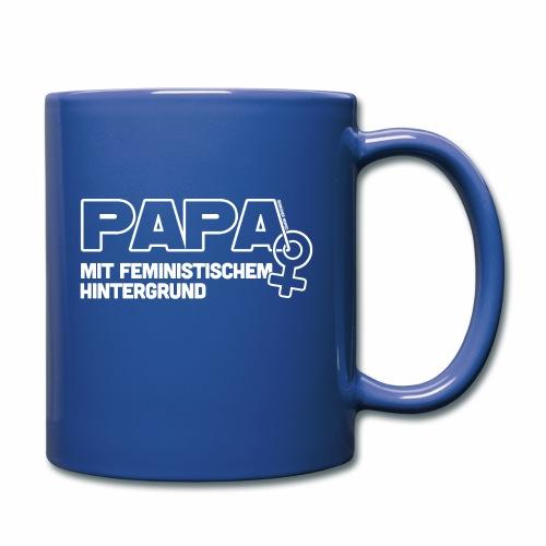 Papa mit feministischem Hintergrund - Tasse einfarbig