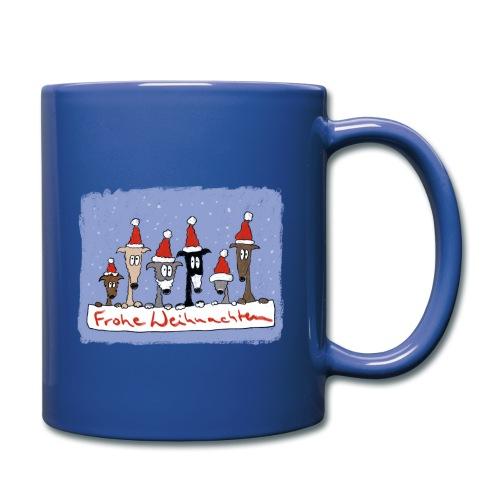 Weihnachten mit Windhunden - Tasse einfarbig
