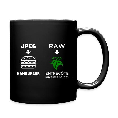 JPEG vs RAW - Taza de un color