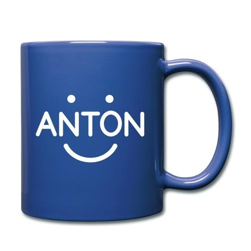 ANTON Smile-Logo weiß auf versch. Farben - Tasse einfarbig