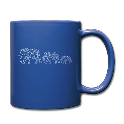 Geometrische Elefantenfamilie - Tasse einfarbig