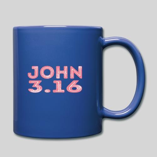 Johannes 3 Vers 16 Bibelversdesign - Tasse einfarbig