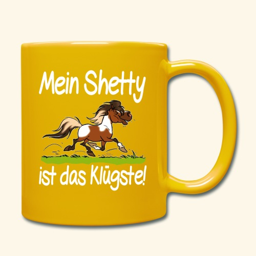Mein Shetty das Klugste (Text weiss - Mug uni