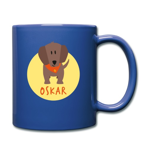 Dackel Oskar von Dachshausen - Tasse einfarbig
