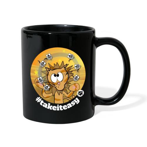 Astrokatze Löwe - Tasse einfarbig