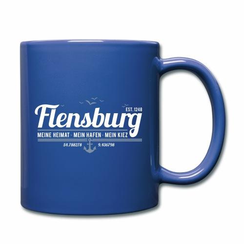 Flensburg - meine Heimat, mein Hafen, mein Kiez - Tasse einfarbig