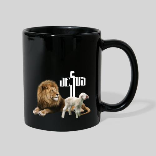 Jesus der Löwe und das Lamm - Tasse einfarbig