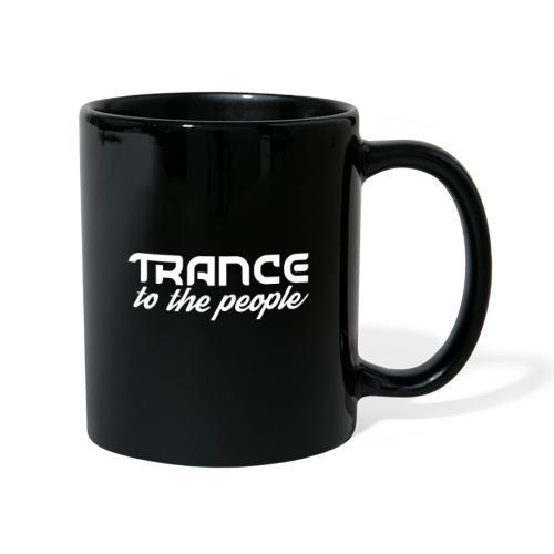 Trance to the People Hvidt Logo - Ensfarvet krus