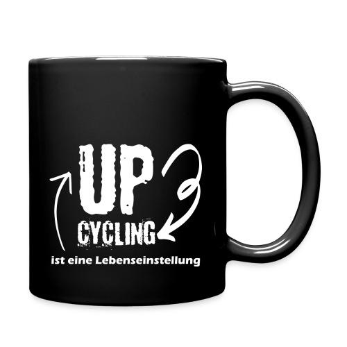 upcycling ist eine Lebenseinstellung - Tasse einfarbig