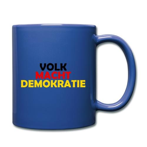 VOLK MACHT DEMOKRATIE - Tasse einfarbig