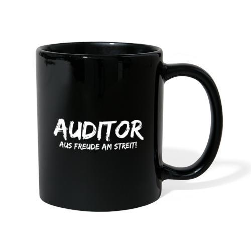 auditor aus freude am streit white - Tasse einfarbig