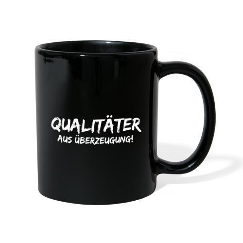 qualitäter aus überzeugung white - Tasse einfarbig