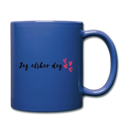 Jeg elsker deg - Ensfarget kopp