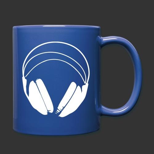 Casque blanc, logo de podradio vectorisé - Mug uni