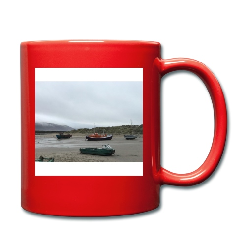 boats on barmouth beach - Full Colour Mug