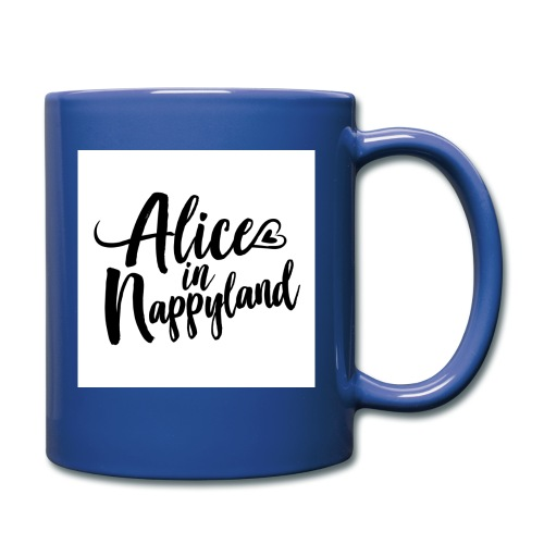 Alice in Nappyland Typography Black 1080 1 - Full Colour Mug