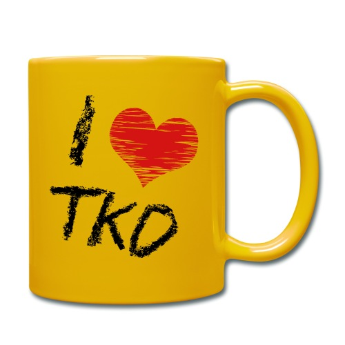 I love tkd letras negras - Taza de un color