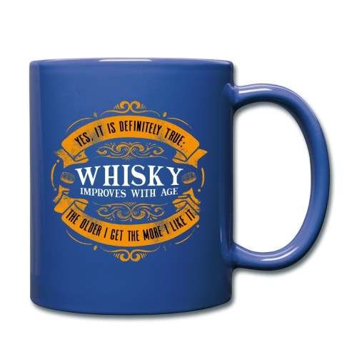 Whisky Improves with Age - Tasse einfarbig