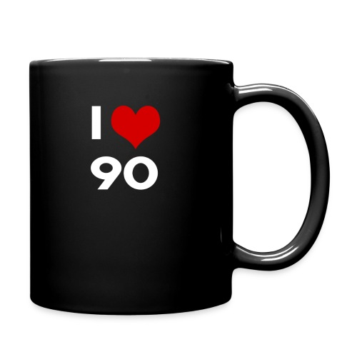 I love 90 - Tazza monocolore